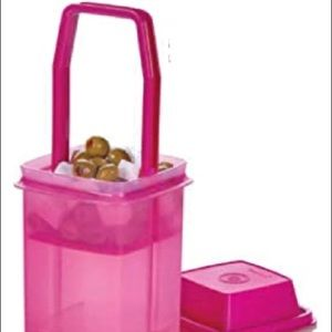 Tupperware Large Square Pick-a-Deli Container Pink